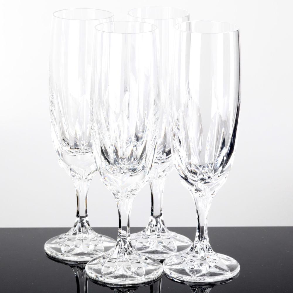 4 Sektglaser Sektkelch Sektfloten Villeroy Amp Boch Iris Bleikristall Glaser Glas Kristalle Ebay Kelch