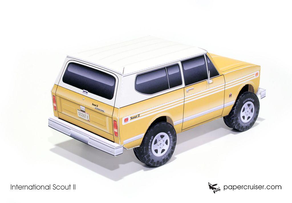 International Scout II paper model | http://papercruiser.com/downloads/international-scout-2/