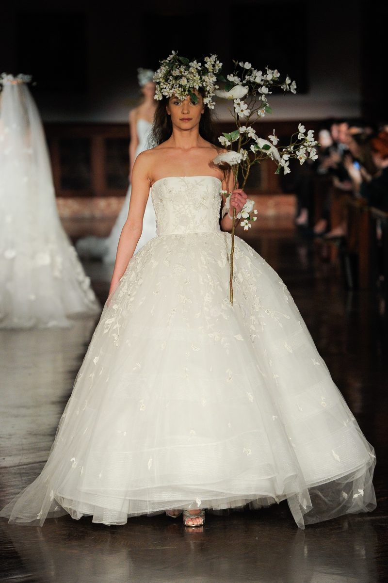 Reem acra bridal spring u the white files couture dresses