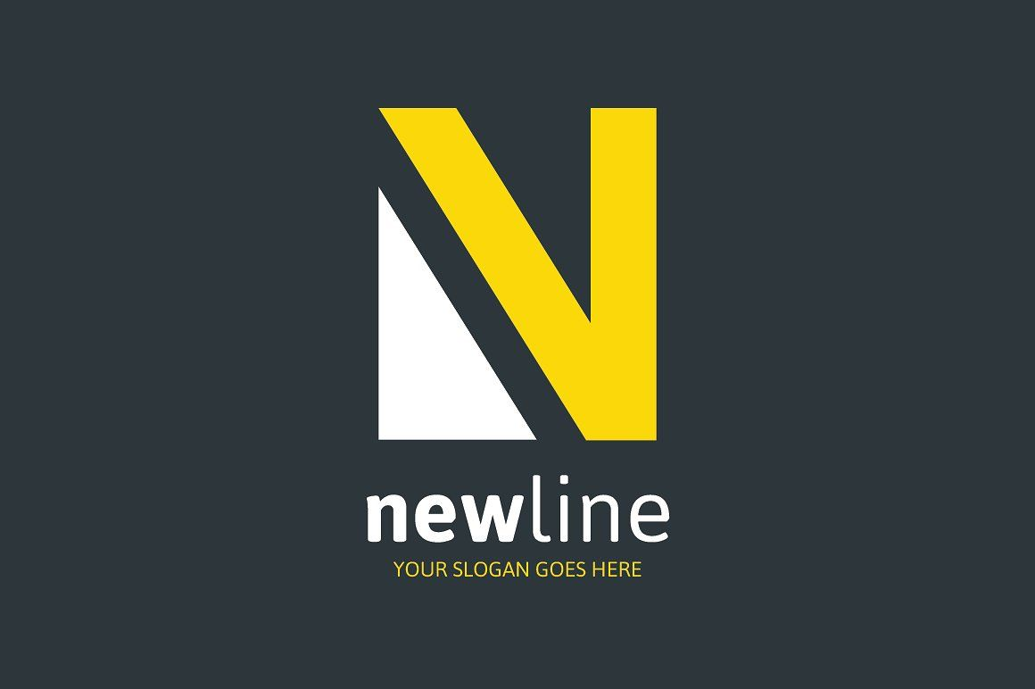 New Line Logo Letter N Letter Logo N Logo Design Lettering