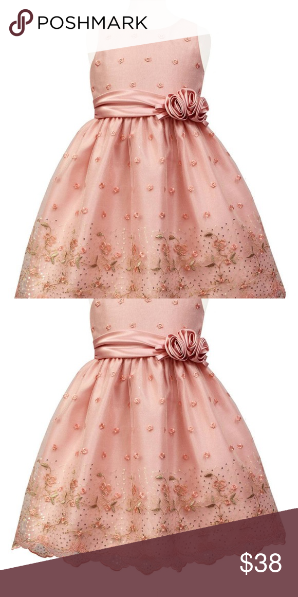SORBET Flower Embroidered Special Occasion Dress This Is One Adorable  Girlu0027s Dress With Shimmery Sequins And