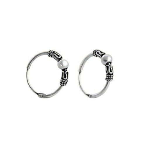 2d6d72290 Bali Style Sterling Silver Small Endless Hoop Earrings for Cartilage, Nose  and Lips, .55 Inches (14mm) - Jewelry For Her