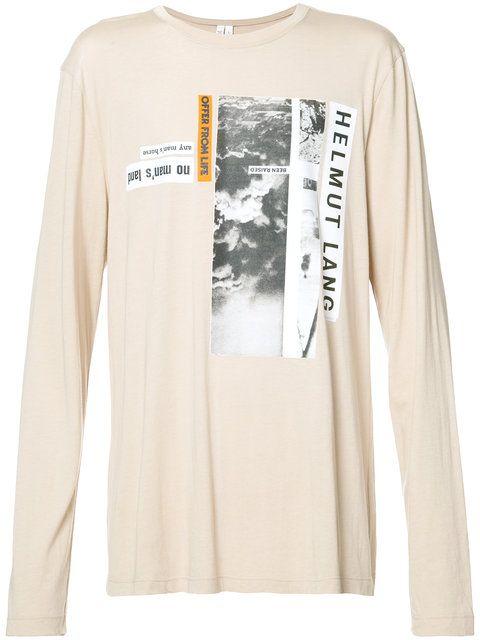 beea28eac59dcb HELMUT LANG Text Printed Long Sleeve T-Shirt.  helmutlang  cloth  t-shirt. Helmut  Lang Helmut Lang X Travis Scott ...