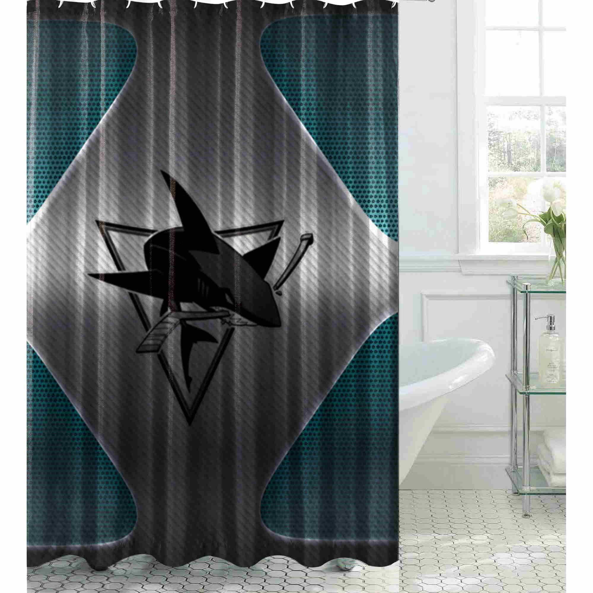 San Jose Sharks Nhl Hockey Team 2273 Bathroom Shower Curtain