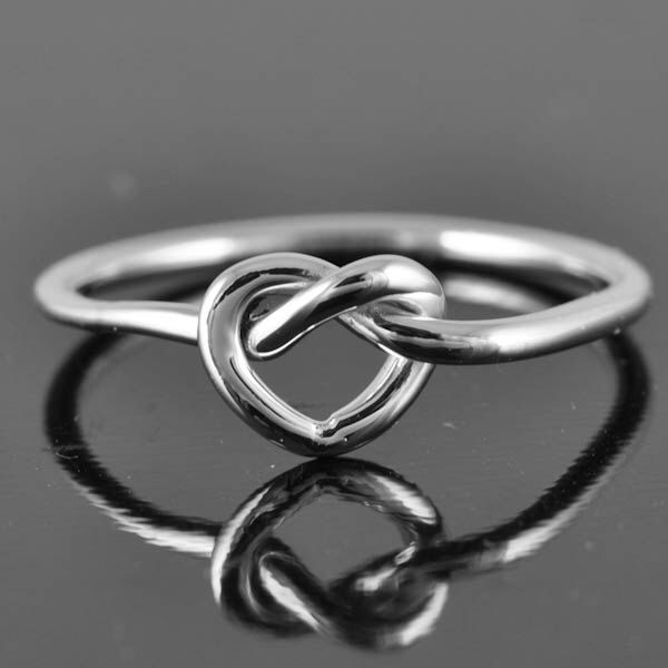 A personal favorite from my Etsy shop https://www.etsy.com/ca/listing/115476175/infinity-heart-ring-love-knot-ring-heart
