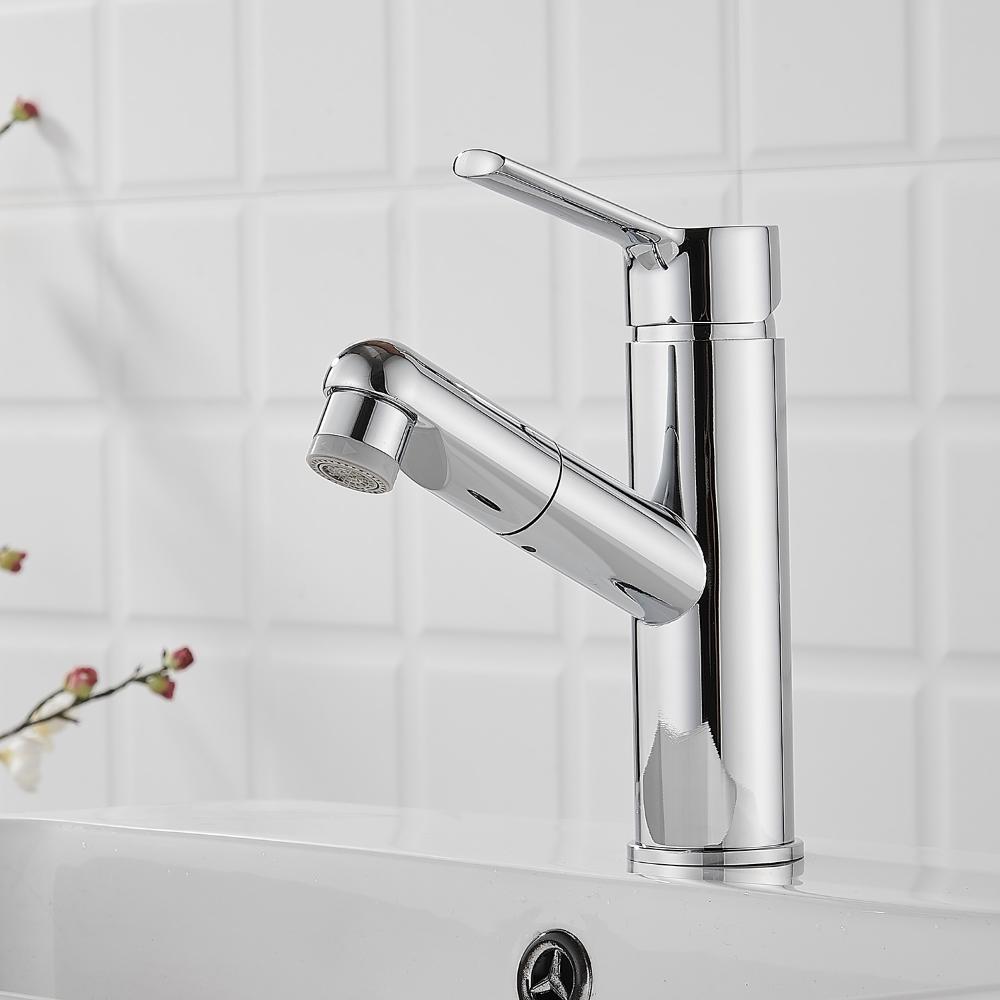 Wasserhahn Ausziehbar Chrom Schwarz Fur Badezimmer In 2020 Wasserhahn Waschtischarmatur Ausziehen