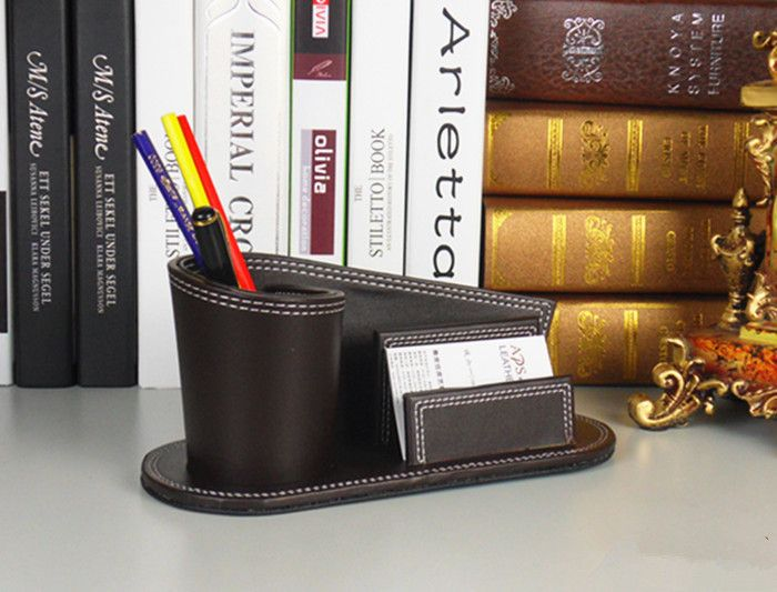 Find More Pen Holders Information about Round Brush pot, double pen container combination Desktop stationery desk receive a case leather card case,High Quality case light,China stationery adhesive Suppliers, Cheap case from running cabin on Aliexpress.com