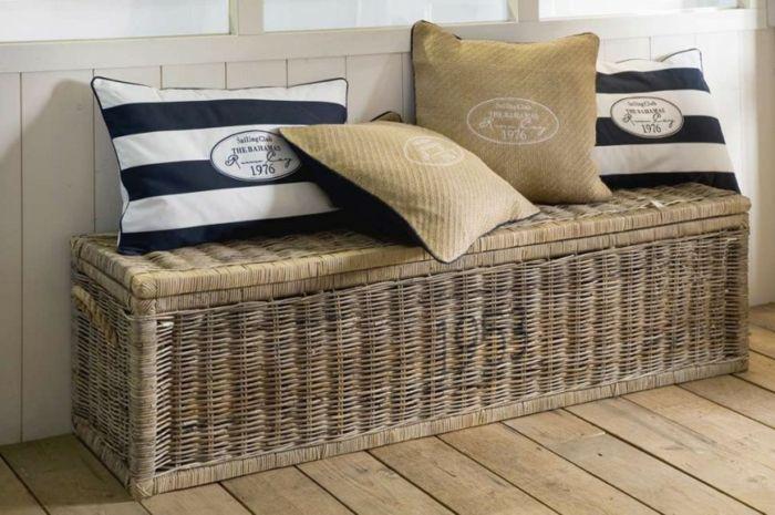 Truhe Schlafzimmer ~ Genial truhe aus rattan deutsche deko rattan
