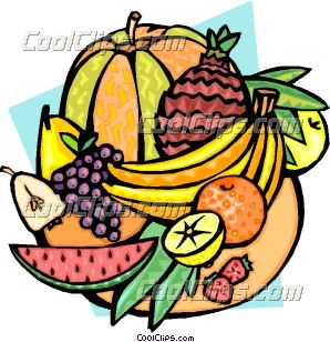 tropical fruit clipart | Melons and tropical fruits Clip Art