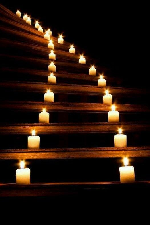 ~Candles on stairs
