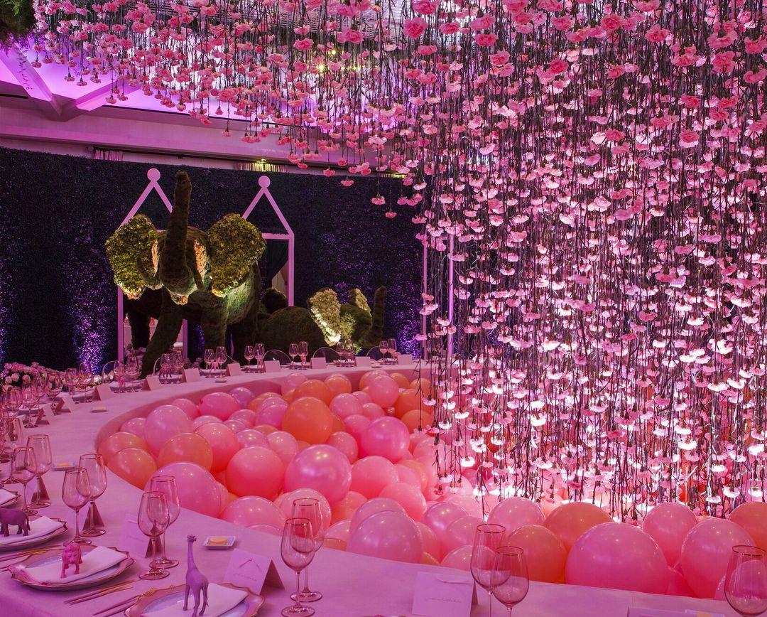 Khloé Kardashian's Baby Shower Pink Safari Khloe