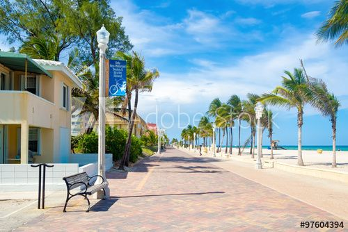 The Famous Hollywood Beach Boardwalk In Florida 2019