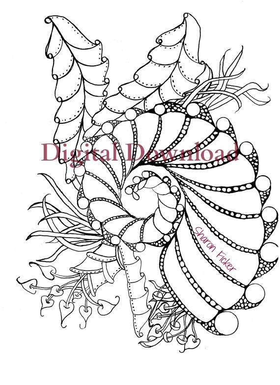Zentangle Under The Sea Coloring Book Is From Therapy Series This Printable