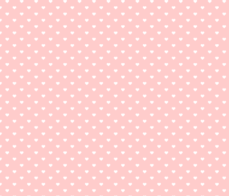 Light Pink Polka Dot Hearts fabric by sweetzoeshop on ...