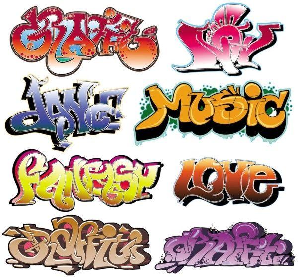 beautiful graffiti font design 02 vector art inspo pinterest rh pinterest com au