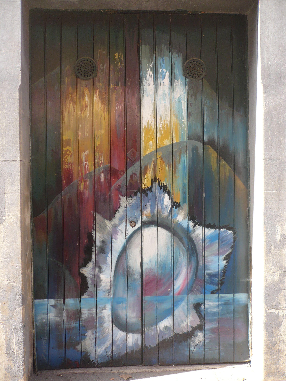 Door art along rua de santa maria doors windows and other portals