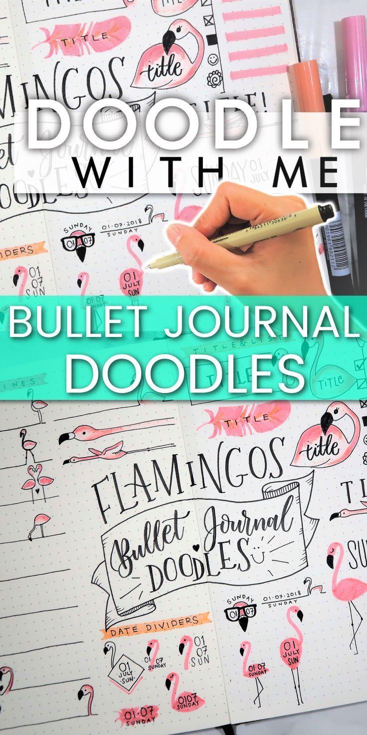30 Flamingo Doodles For Bullet Journal Ideas