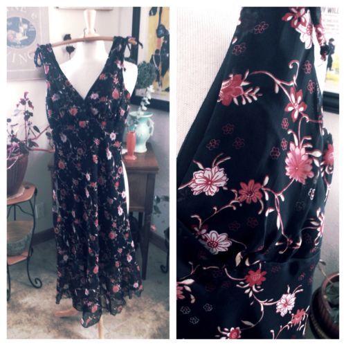 SALE-Vintage-1930s-Style-Dress-1940s-Floral-Black-Swing-Rockabilly-S-Bias