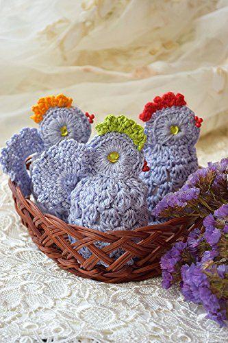 Ostern Hakeln Huhn Gemutlich Gehakelt Hahnchen Satz Von 3 Osterei