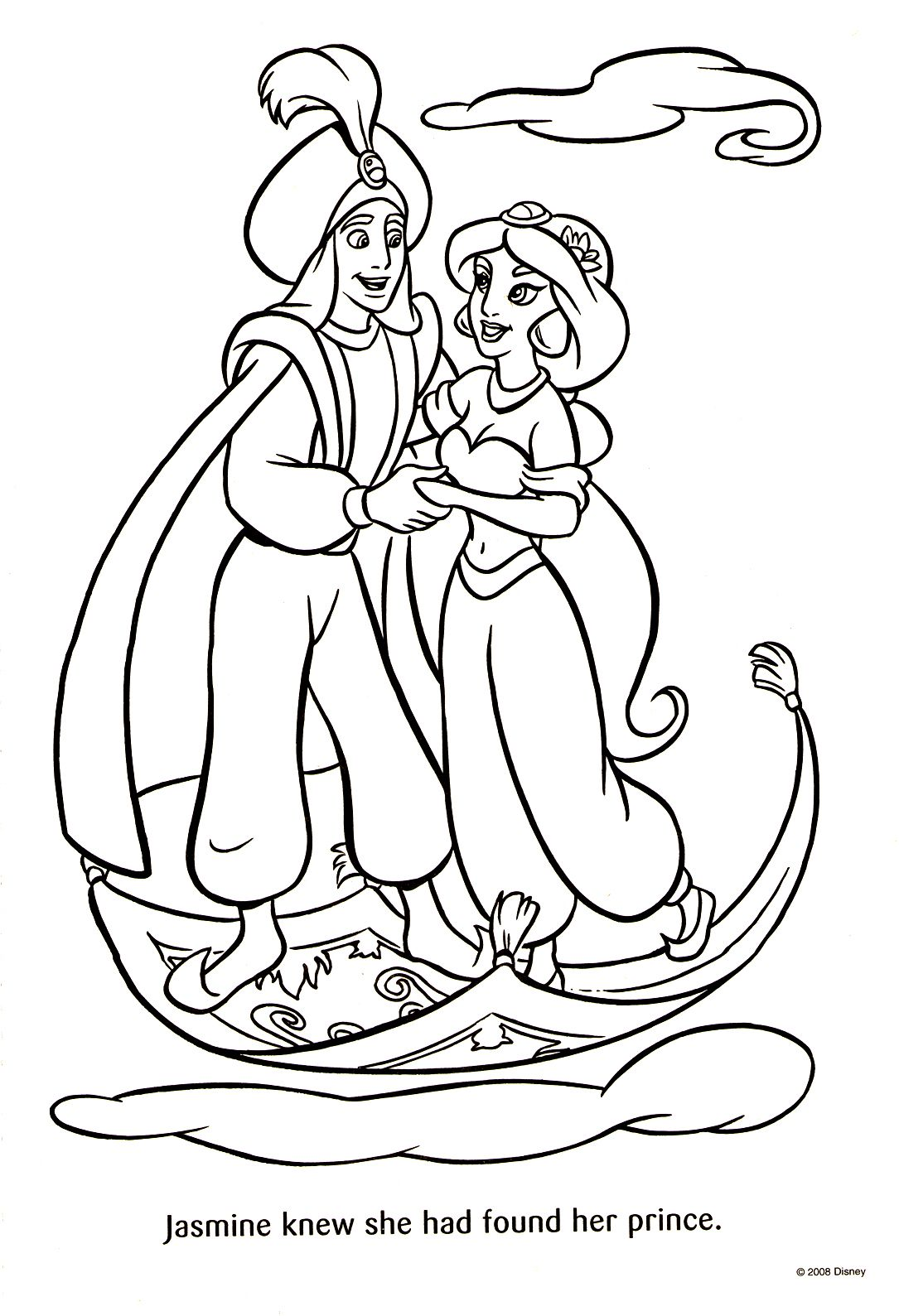 Aladdin coloring page | アラジン塗り絵 | Pinterest | Characters ...