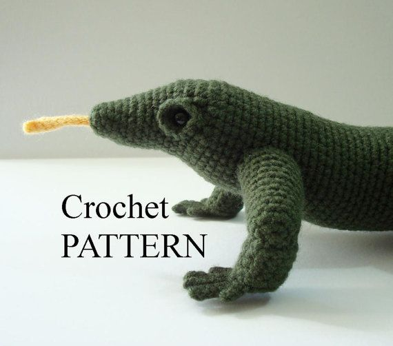 Amigurumi Halloween Free Patterns : Komodo Dragon Crochet Pattern Amigurumi Adobe by ...