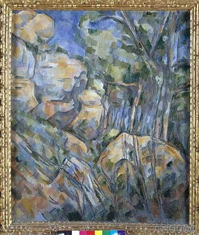 Paul Cézanne - Rocks near the caves above Chateau Noir