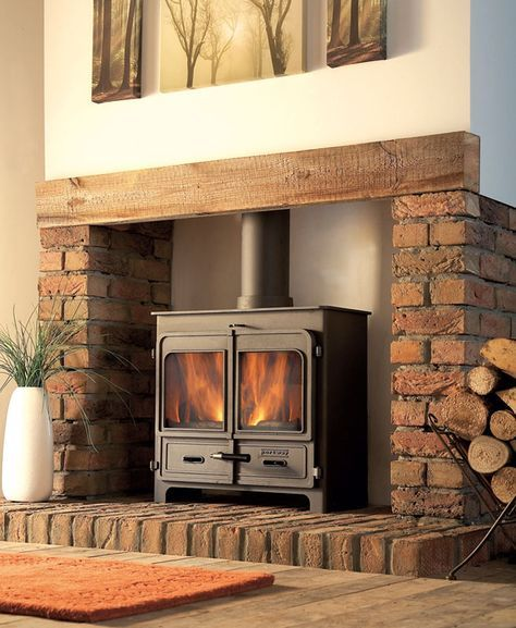 Fireplace Hearth Ideas: Contemporary Wood Burning