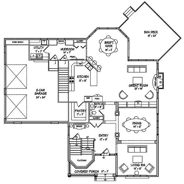 sun deck/breakfast nook/mudroom/work bench in garage/entry