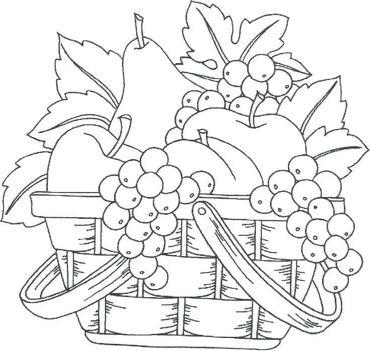 Fruit Bowl Coloring Page Free Printable Fruit Coloring Pages Basket Drawing Coloring Pages