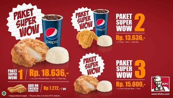 Promo Makan Siang Dengan #Paket Super Wow #KFC, Harga Mulai Rp ...