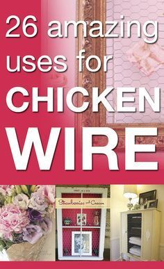 Chicken Wire Ideas Idea Box By Susan @ Rustic ReDiscovered