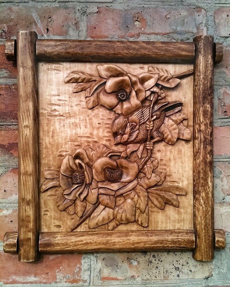 Wooden sculptures wood carved wall art home decoration rustic