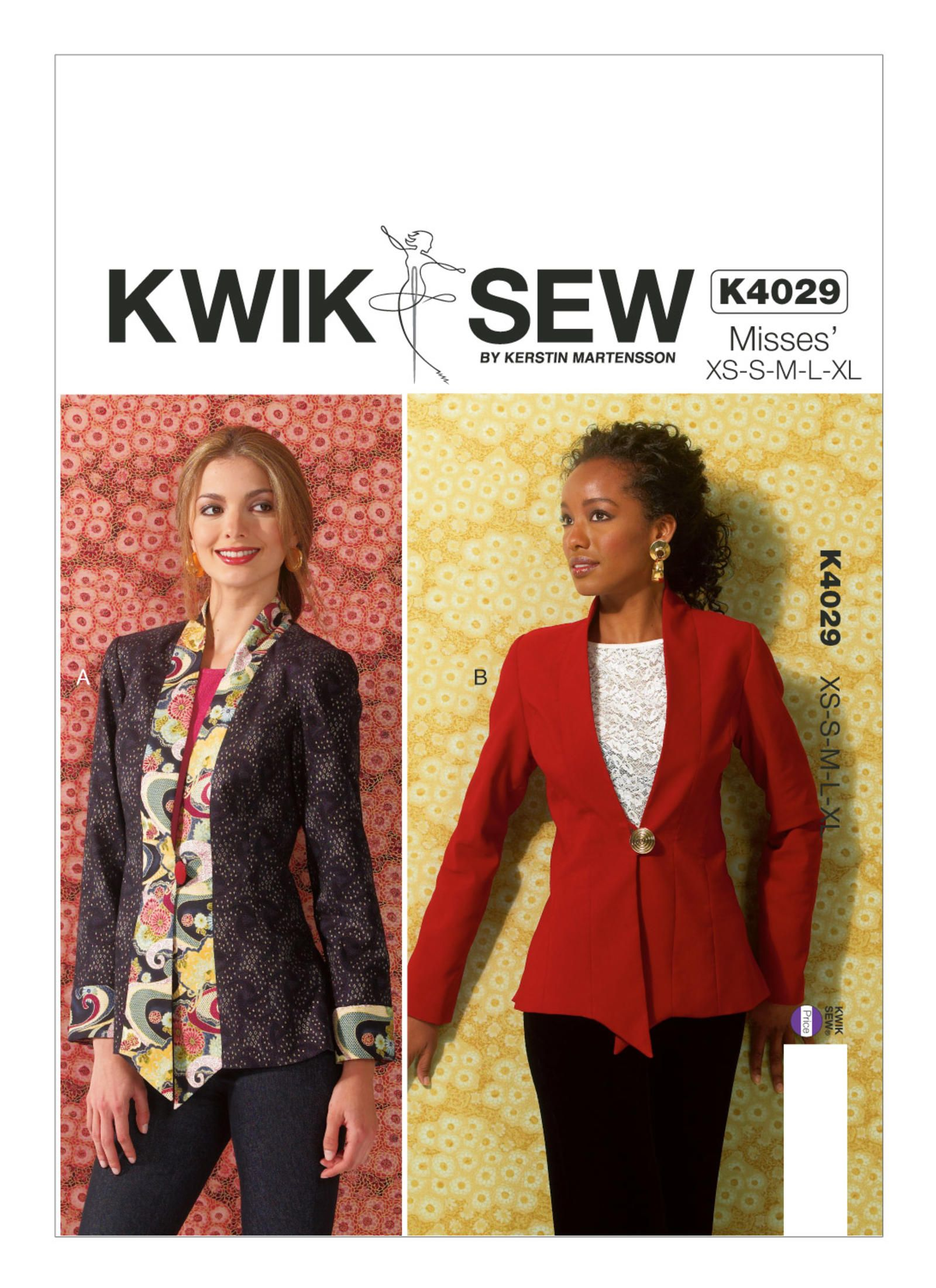 K4029 | Misses\' Collared Jackets Sewing Pattern | Kwik Sew Patterns ...