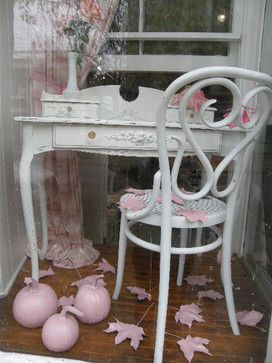 shabby chic furniture nyc. Vintage Shabby Chic Desk With Lovely Appliques - Eclectic Home Office New York Donna Thomas Furniture | Ideas Pinterest Nyc