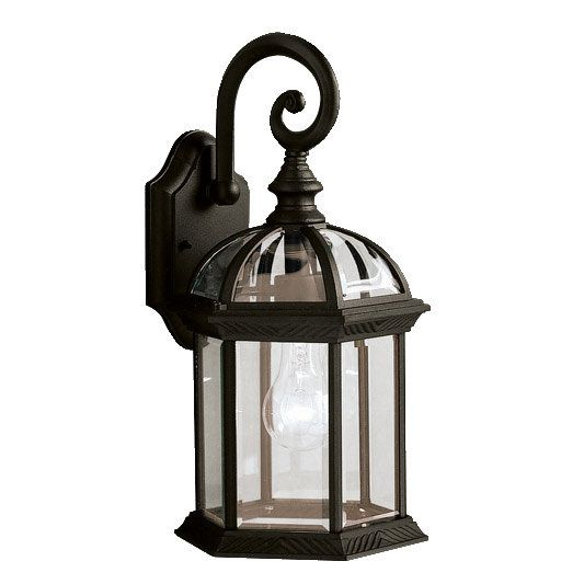 """View the Kichler 9735 Barrie Collection 1 Light 16"""" Outdoor Wall Light at LightingDirect.com. - By our new red front door -a"""