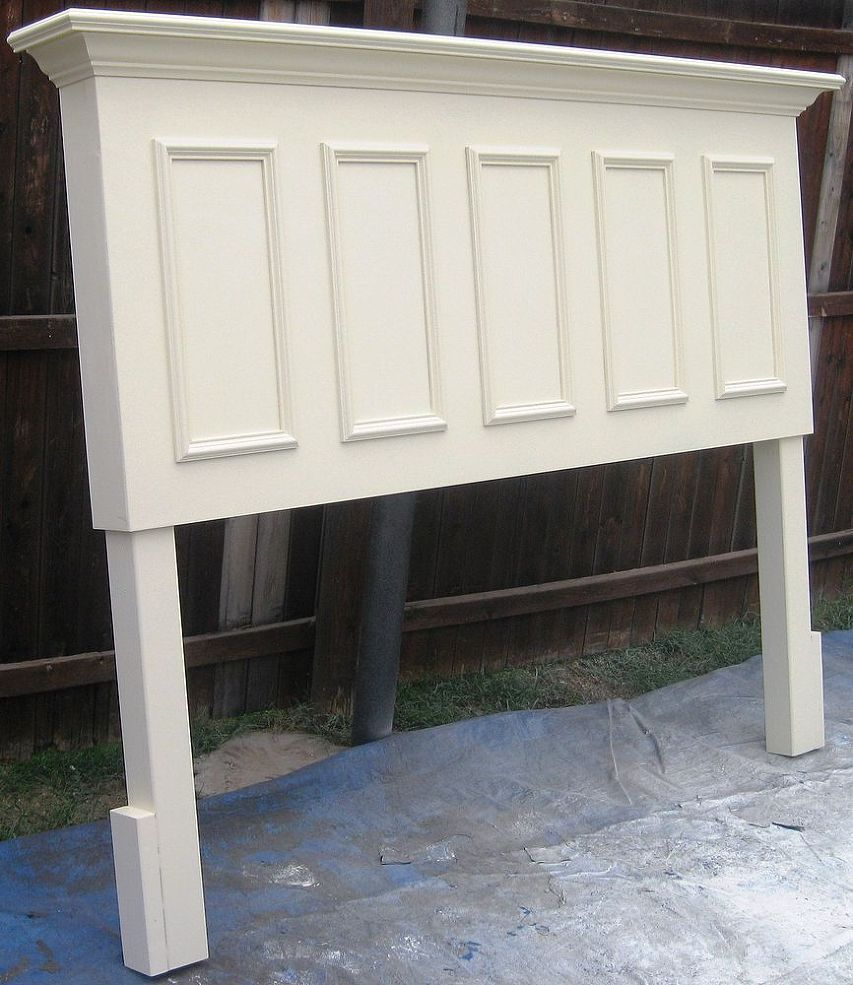 King size headboard made from an old door florida house - King size headboard ideas ...