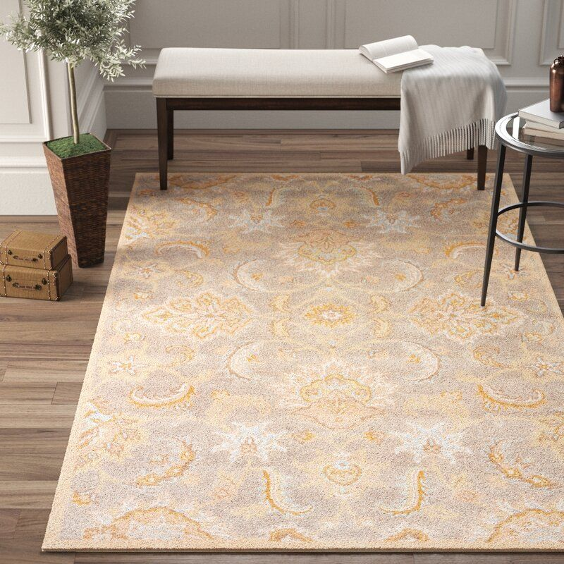 Thornhill Oriental Handmade Tufted Wool Putty Area Rug With Images Area Rugs Rugs