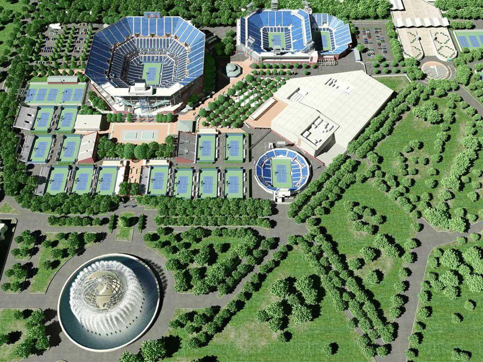 The US Open Tennis Championships Courts New York Sports Scenes - Us open tennis map