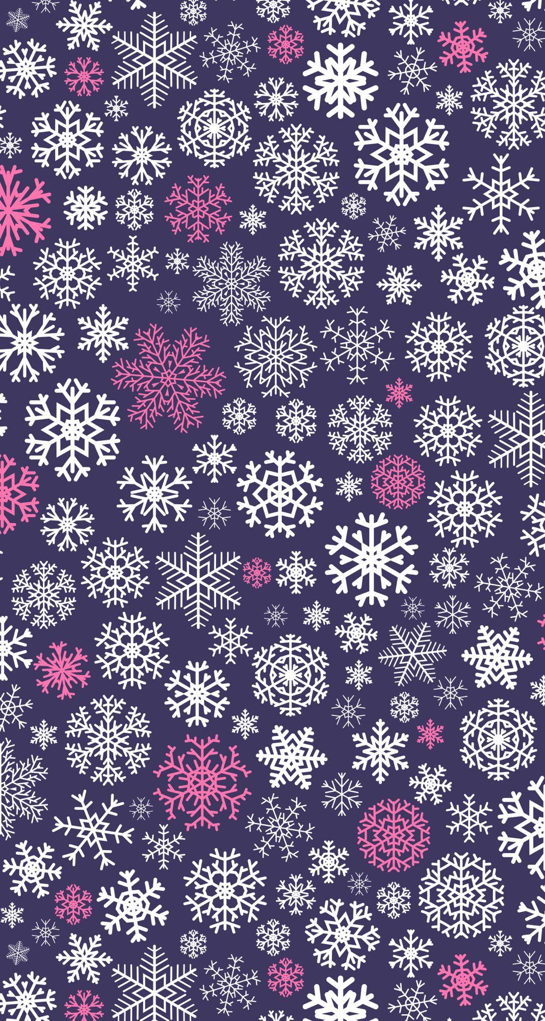 Purple Snowflakes Snowflake Wallpaper Winter Snow Wallpaper Winter Wallpaper
