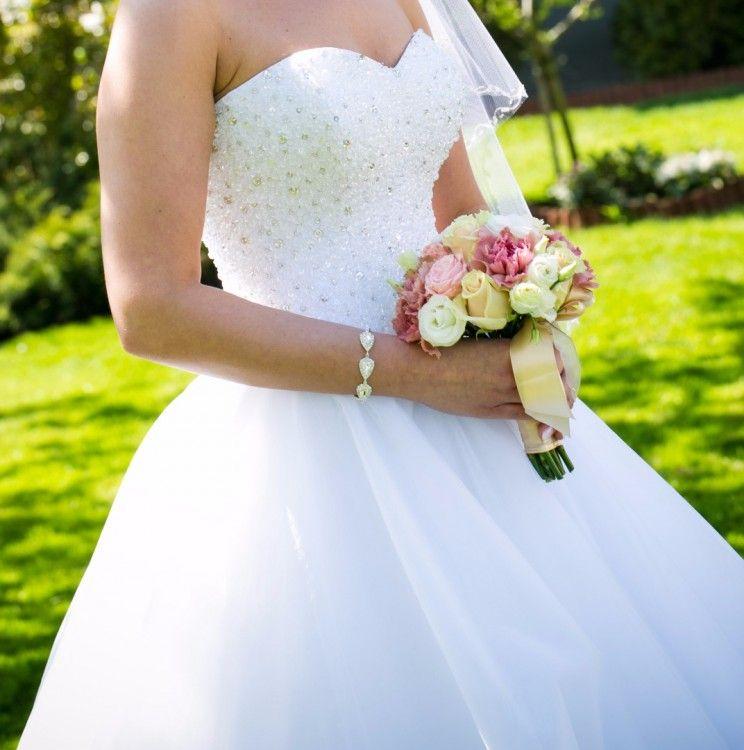 Suknie Suknia ślubna Princessa Zjawiskowa Gorset Z Kryształkami