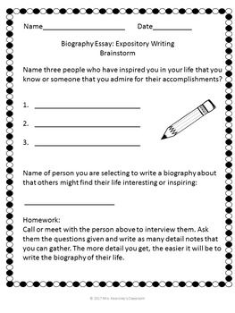 Biography Essay  Personal Hero Interview U0026 Outline Material