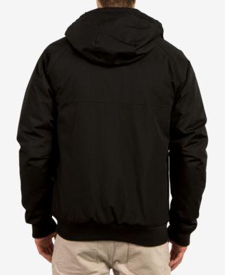 Volcom Men's Hernan Zip-Front Hooded Jacket - Black 2XL