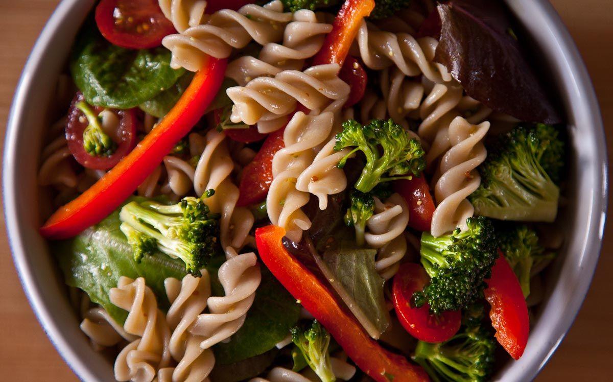 Pasta Salad with Hemp Oil Dressing (Vegan, glutenfree