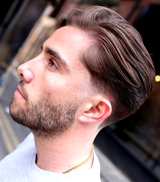 Brushed Back Thin Hair With Temple Shave In 2020 Hairstyles For Thin Hair Thin Hair Men Mens Hairstyles