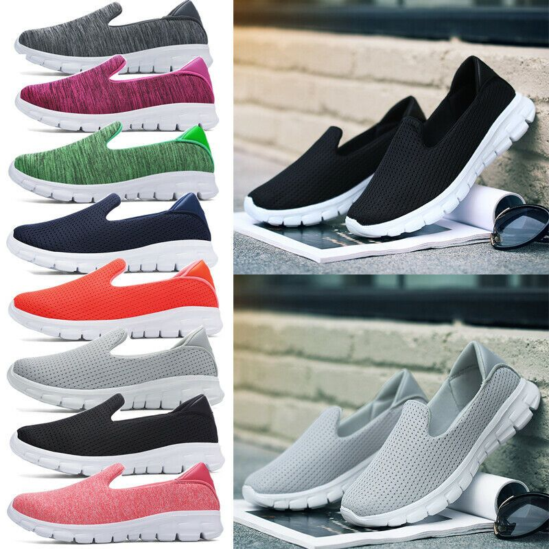 Women Breathable Mesh Walking Trainers Sneakers Shoes Soft