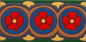 From the California Revival Collection, Yelina Border, Designed by Susanne Kibak Redfield and Erin Adams at Tango Tile