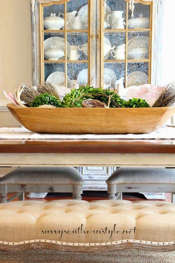 Dough Bowl Decorating Ideas How To Fill A Dough Bowl For A Table Centerpiece  Getting Crafty