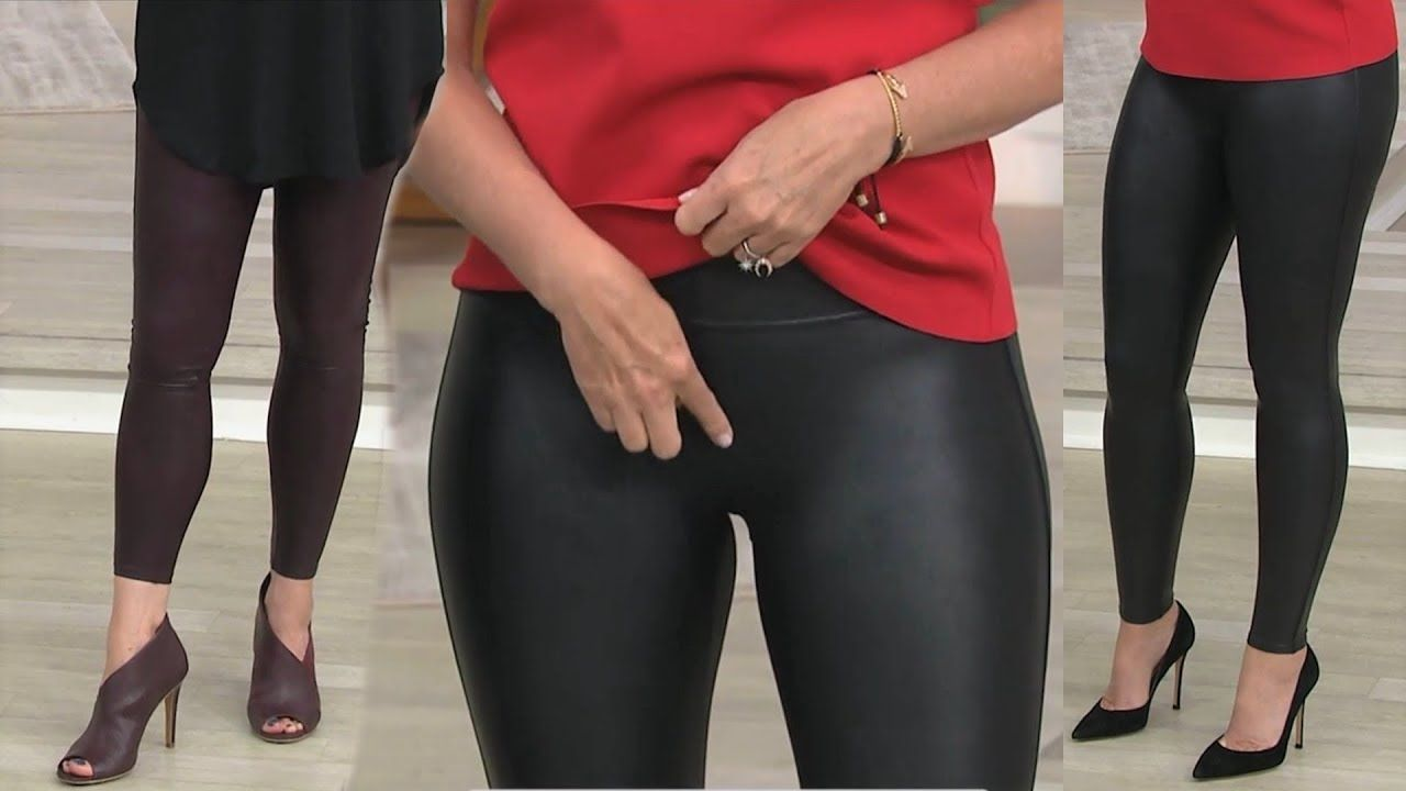 4a04a1d4d43f4 Sandra Bennett and Sara Blakely Leather Leggings QVC 9/11/17 - YouTube
