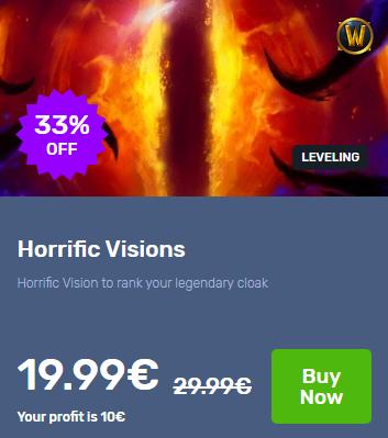 Buy Wow Boost Horrific Visions In 2020 Horrific Boosting Stuff To Buy