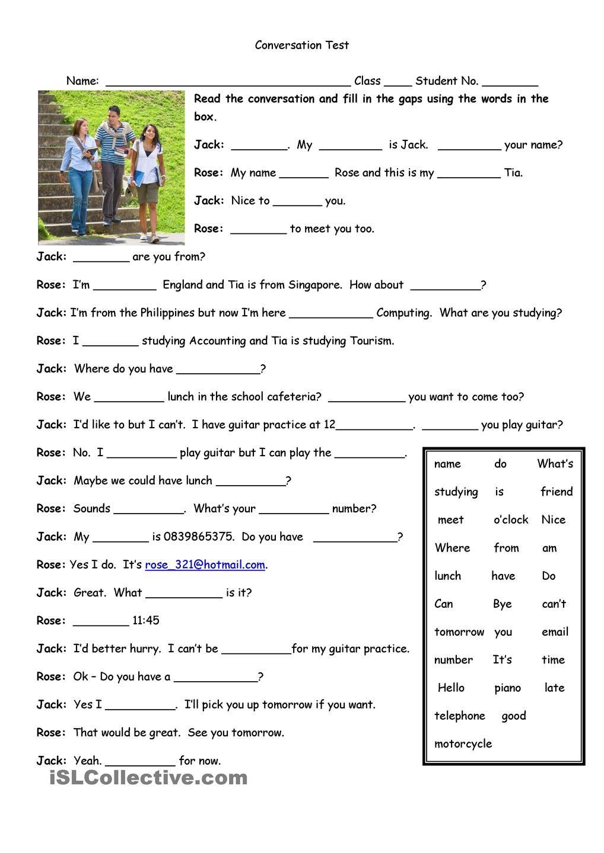Worksheets Esl Conversation Worksheets conversation test esl pinterest worksheets and worksheet free printable made by teachers